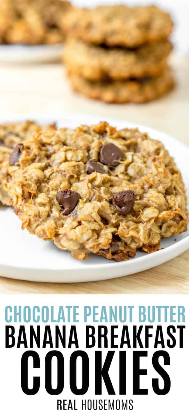 Chocolate Peanut Butter Banana Breakfast Cookies ⋆ Real Housemoms