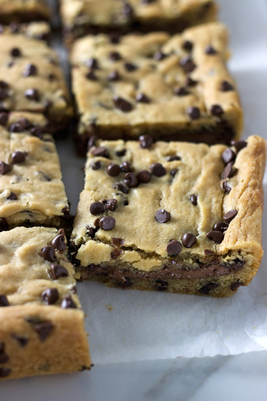 Chocolate Stuffed Cookie Bars