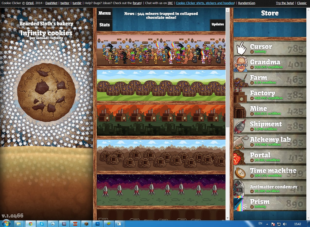 Cookie Clicker  Infinity Cookies ! !