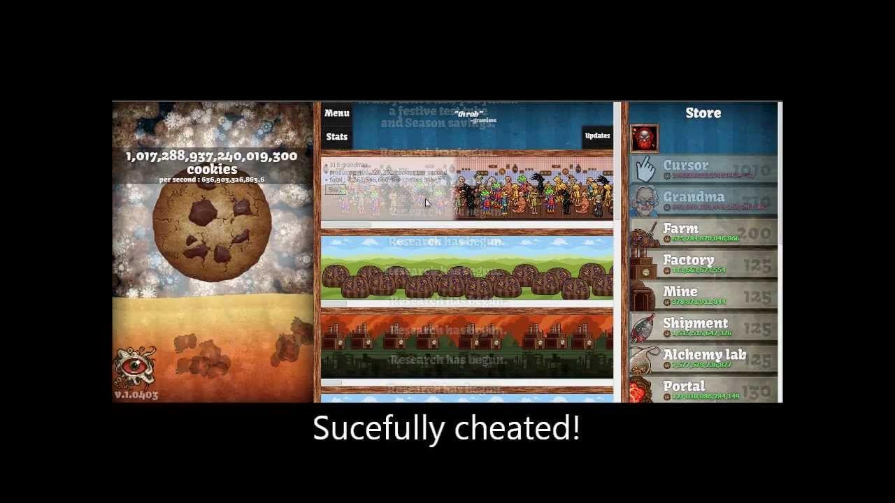 Cookie Clicker Cheats (spawn Golden Cookie,infinity Cookies