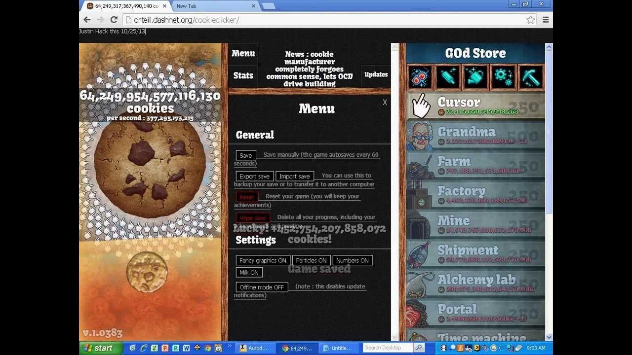 Cookie Clicker Export Code