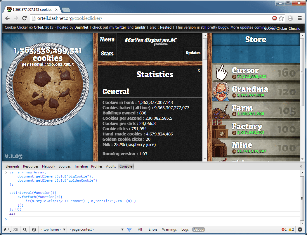 Cookie Clicker Has Pushed Me Too Far! (do Not Read If You Don't