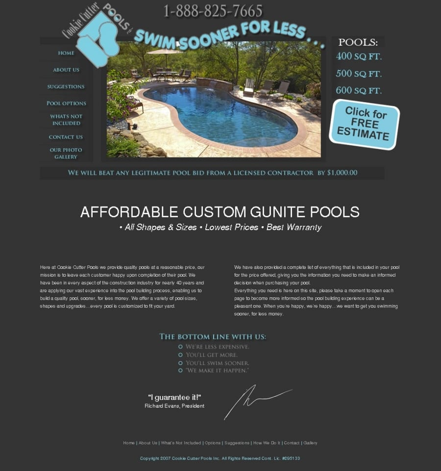 Cookie Cutter Pools Reviews, Complaints, Customer Service
