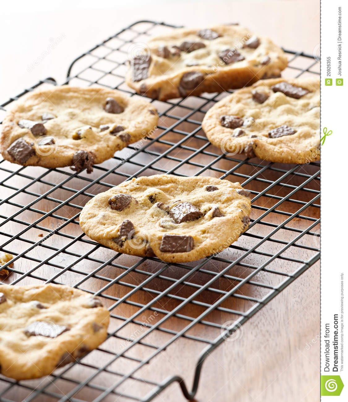 Cookies Cooling On Cooling Rack Stock Image