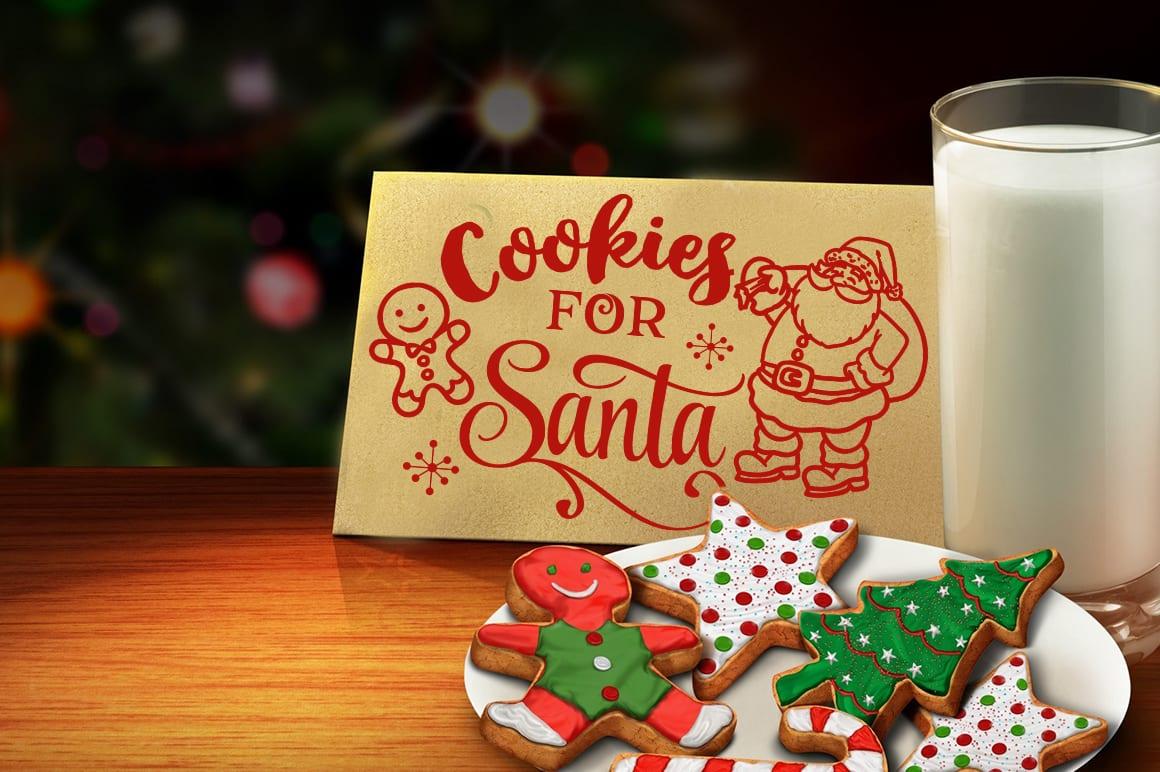 Cookies For Santa Svg By Blackcatssvg