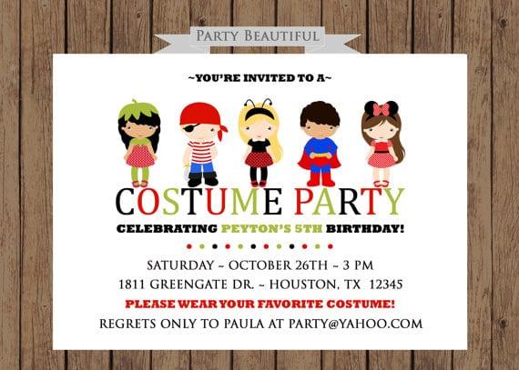 Costume Birthday Party Invitations 21110