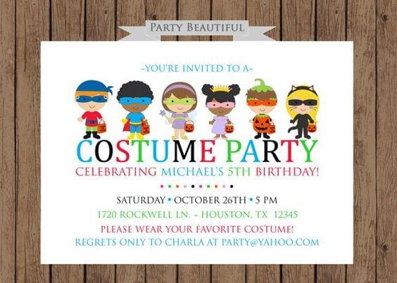 Costume Party Invites