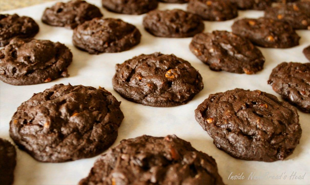 Dark Chocolate Cherry Pecan Cookies