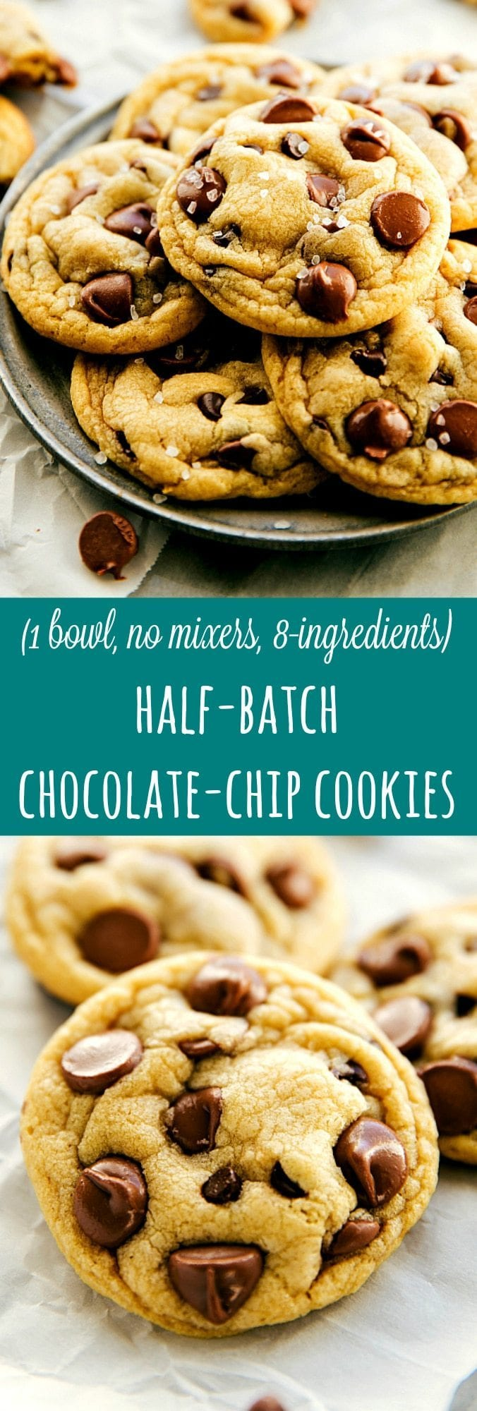 Half Batch Chocolate Chip Cookies