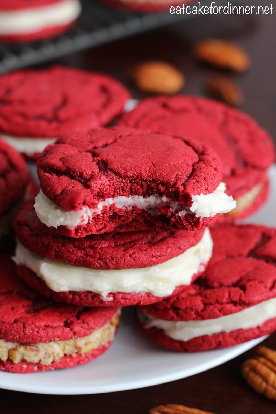 Eat Cake For Dinner  Red Velvet Sandwich Cookies With Cream Cheese