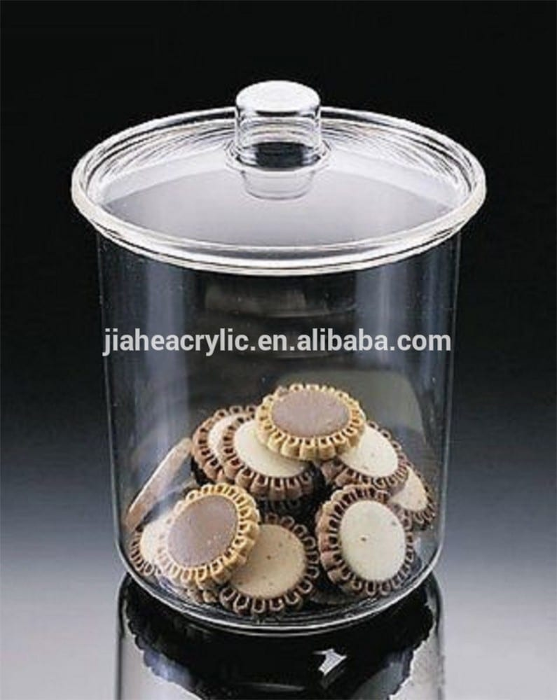 Factory Direct Sell Plexiglass High End Clear Plastic Cookie Jar