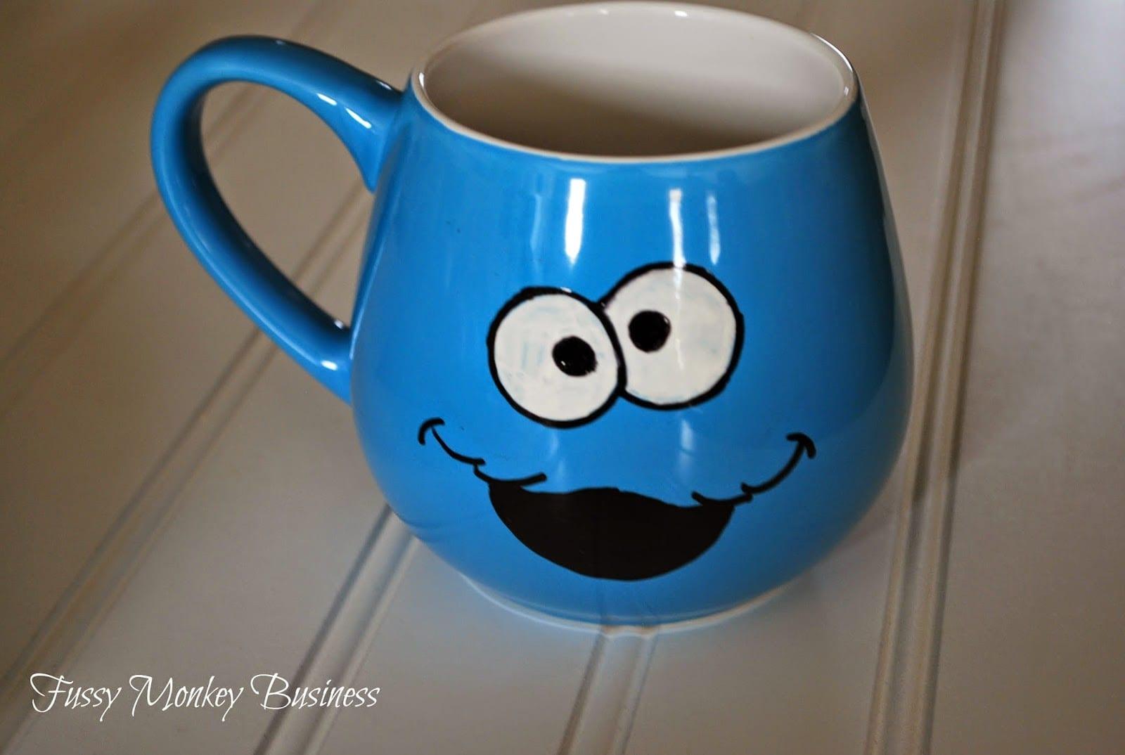 Fussy Monkey Business  Cookie Monster Mug Tutorial
