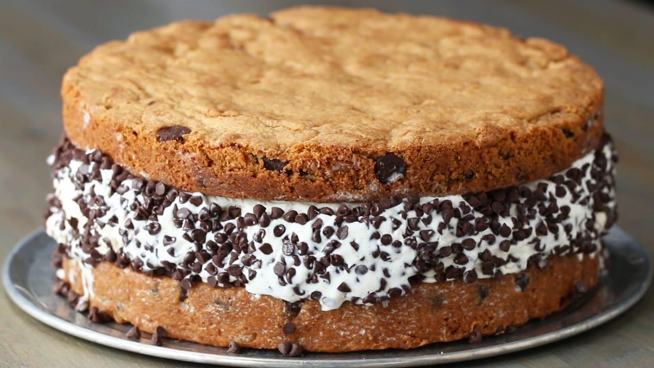 Giant Cookie Ice Cream Sandwich