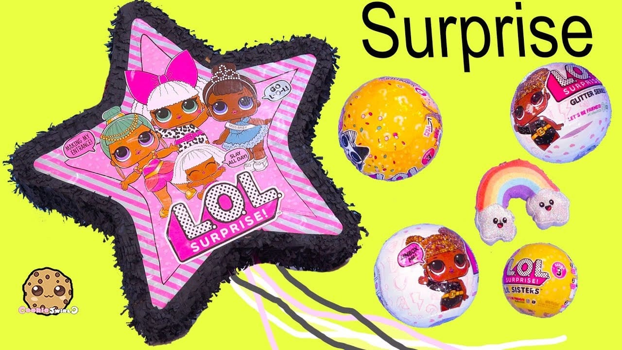 Giant Lol Surprise Star Filled With Blind Bags ! Cookie Swirl C