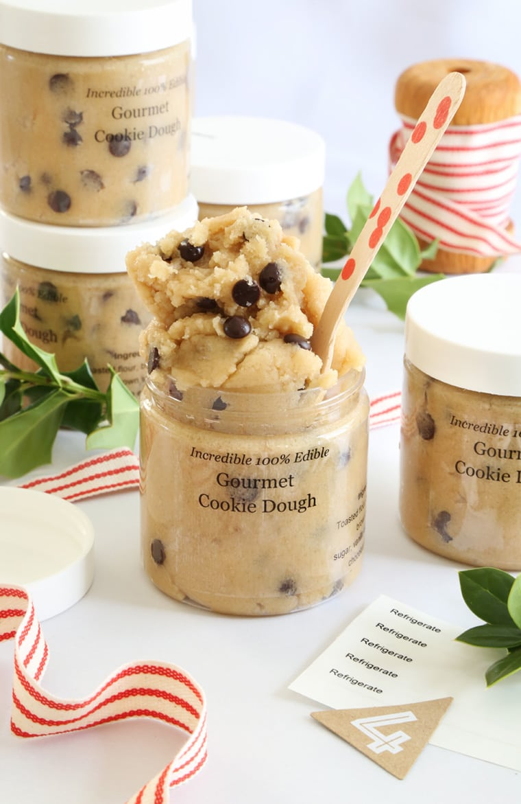 Gift This! Gourmet Toasted Cookie Dough In A Jar