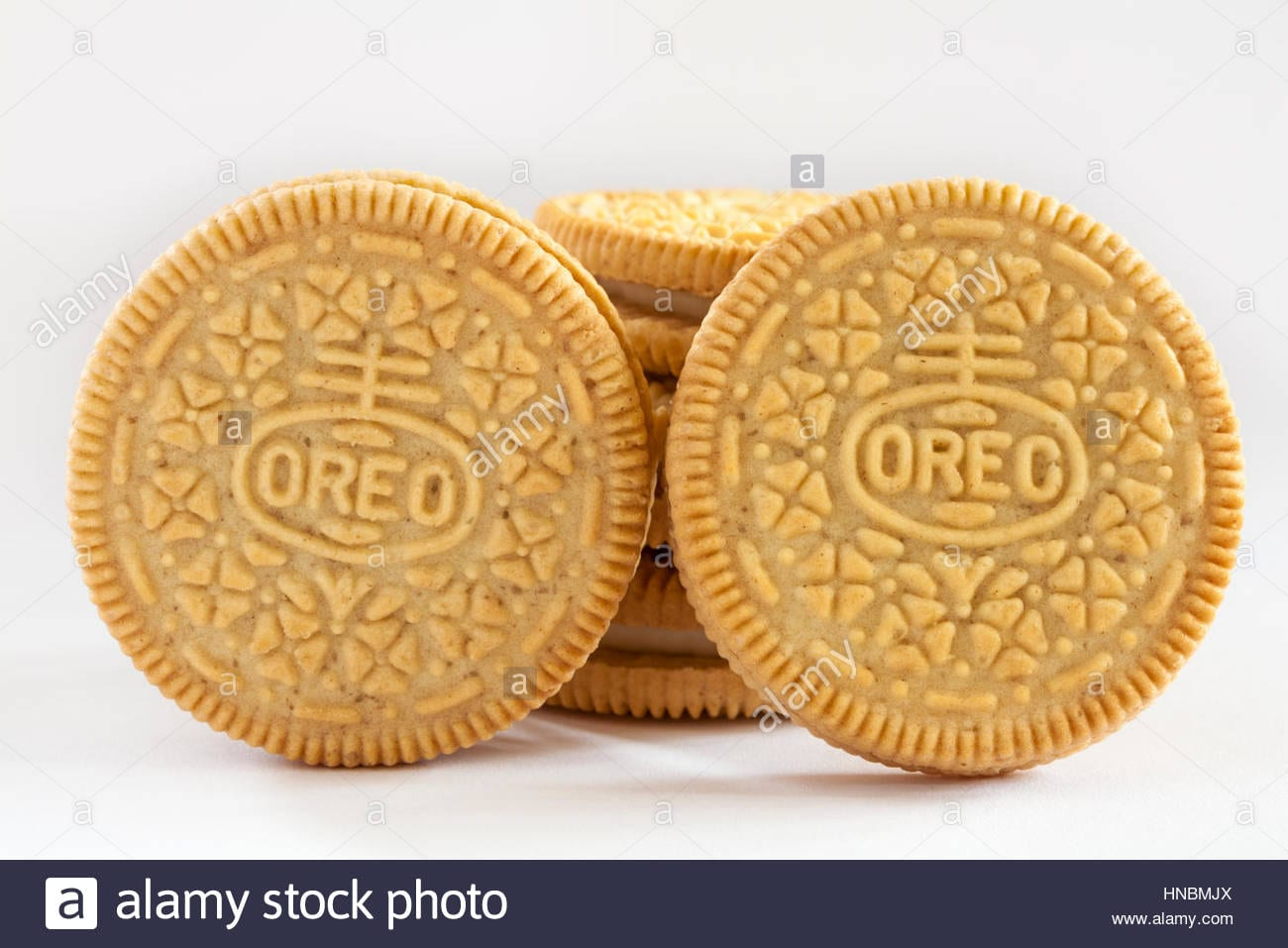 Golden Oreo Biscuits, Sandwich Biscuits With A Vanilla Flavour