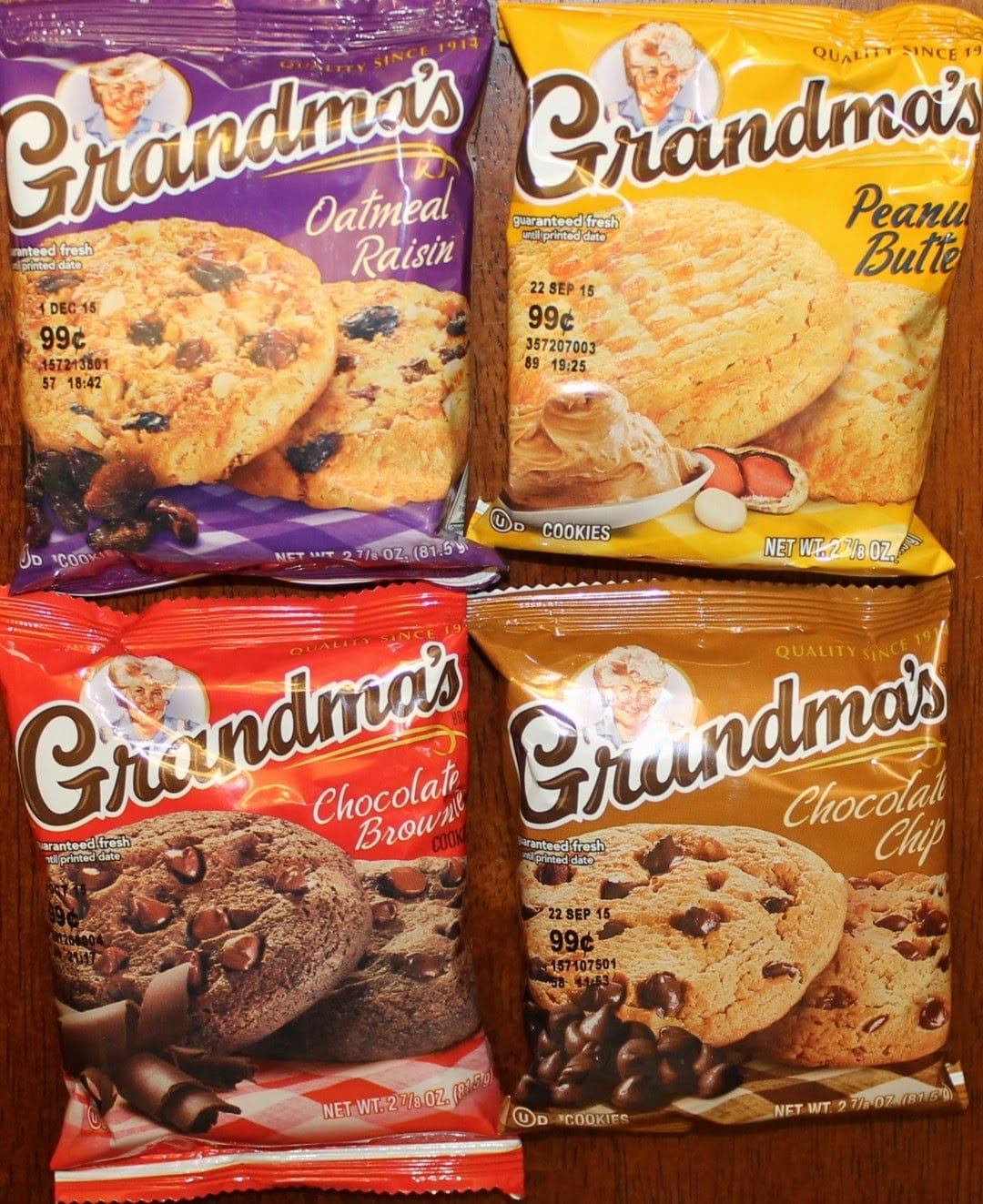 Grandma's Cookies  Oatmeal Raisin, Peanut Butter, Chocolate