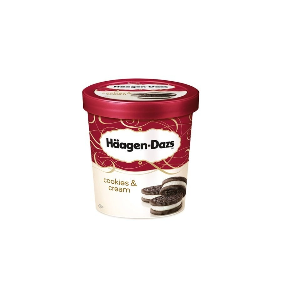 Haagen Dazs Cookies & Vanilla Cream 100ml From Supermart Ae