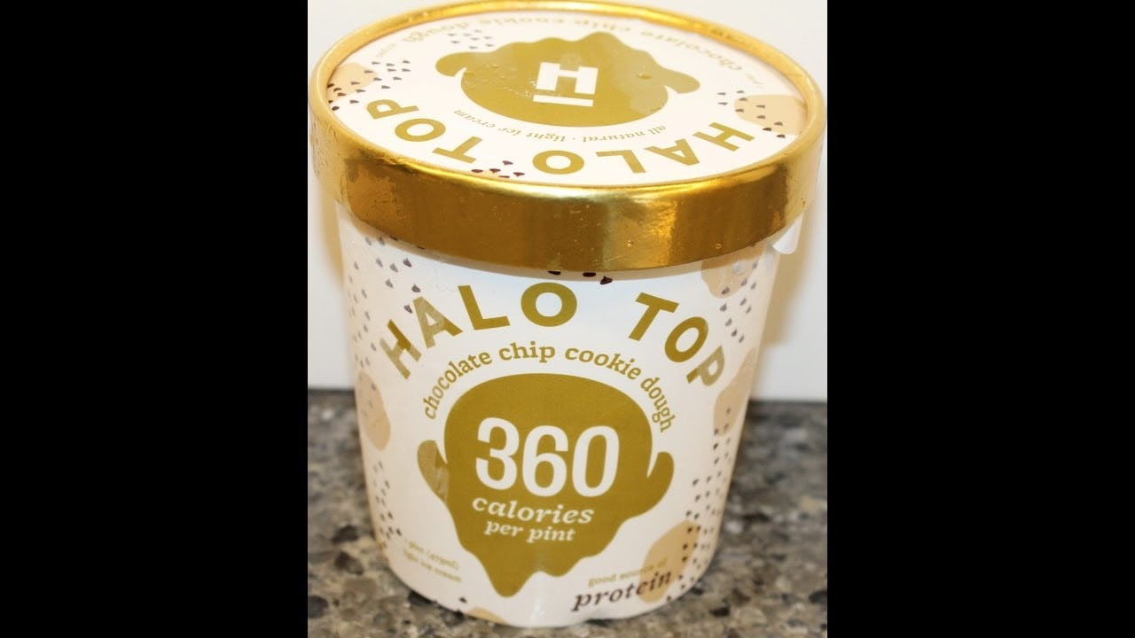 Halo Top  Chocolate Chip Cookie Dough Ice Cream Review