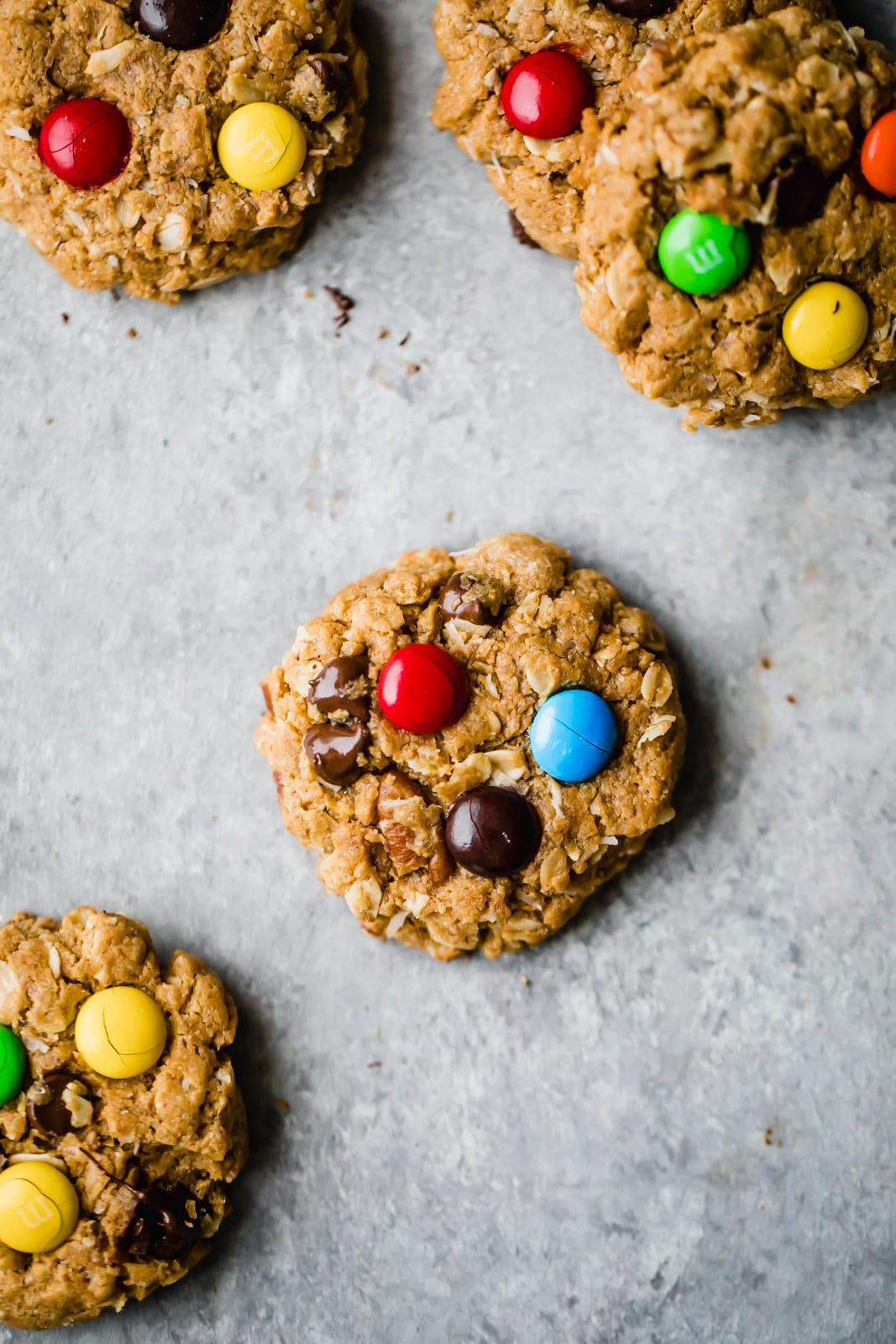 Healthier Flourless Monster Cookies