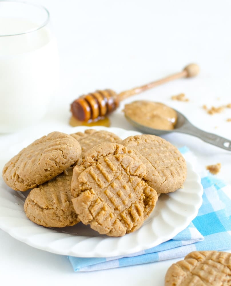 Honey Sweetened Peanut Butter Cookies