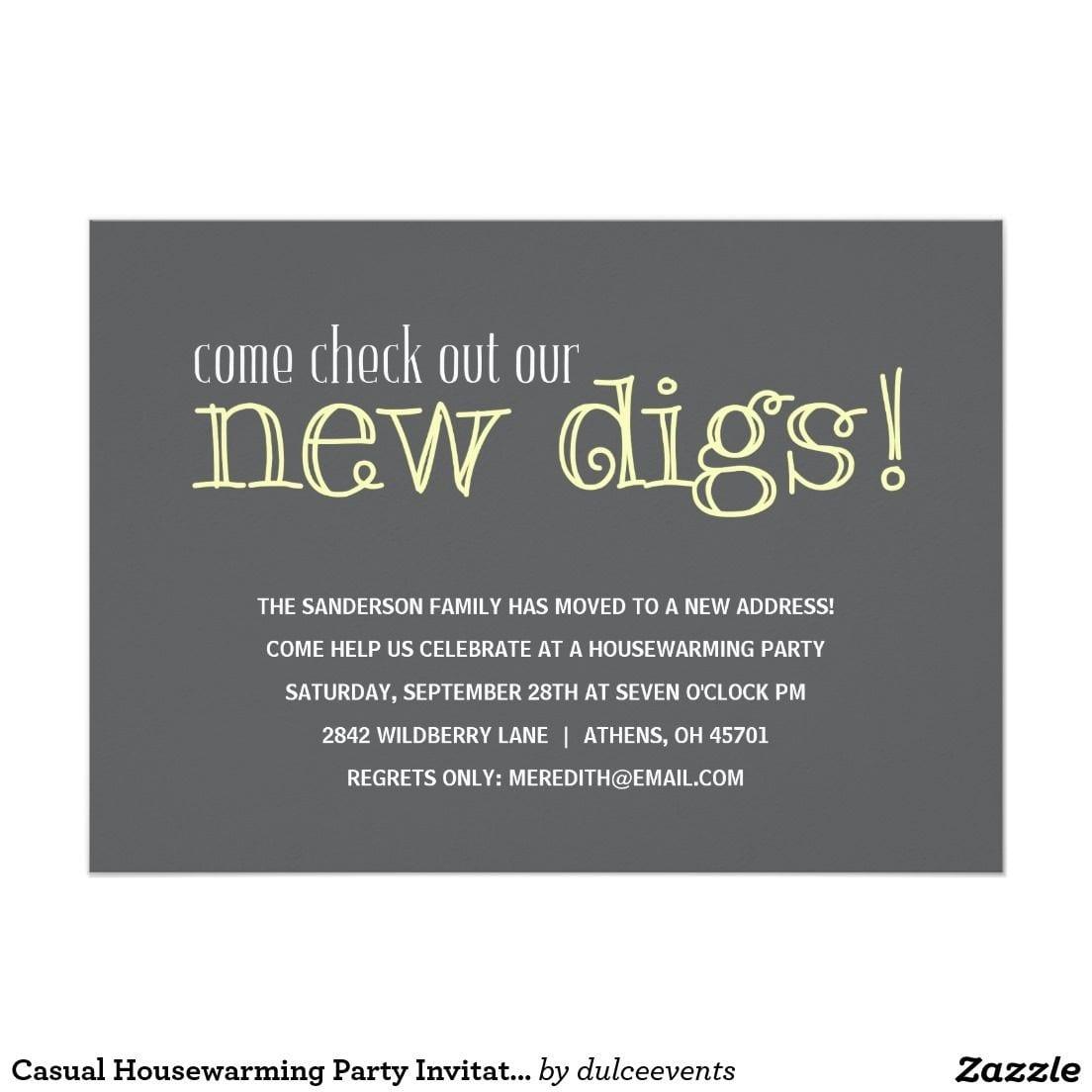 Housewarming Party Invitation Wording Funny