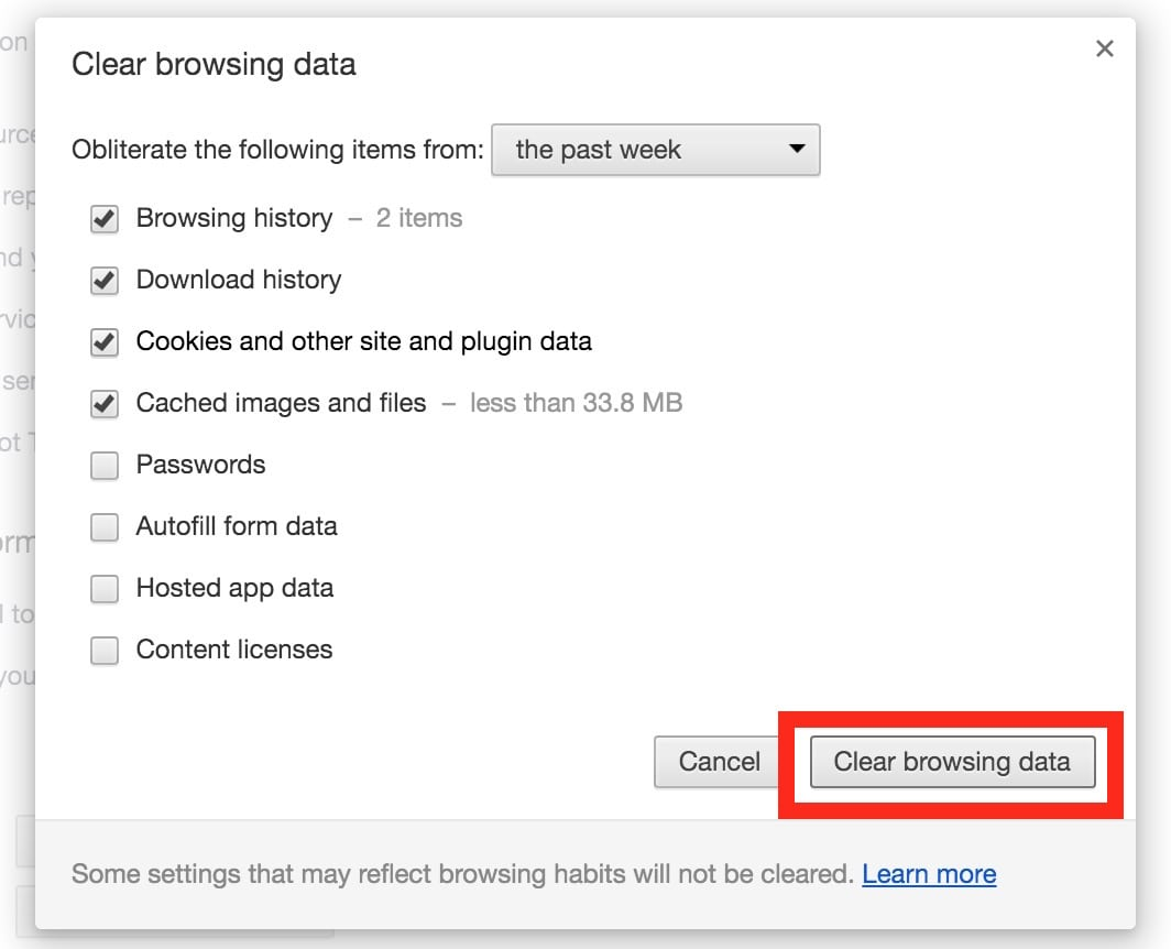 How To Clear Cache & History In Chrome For Mac Os X