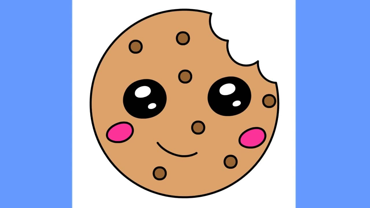 How To Draw A Cookie Step By Step For Kids