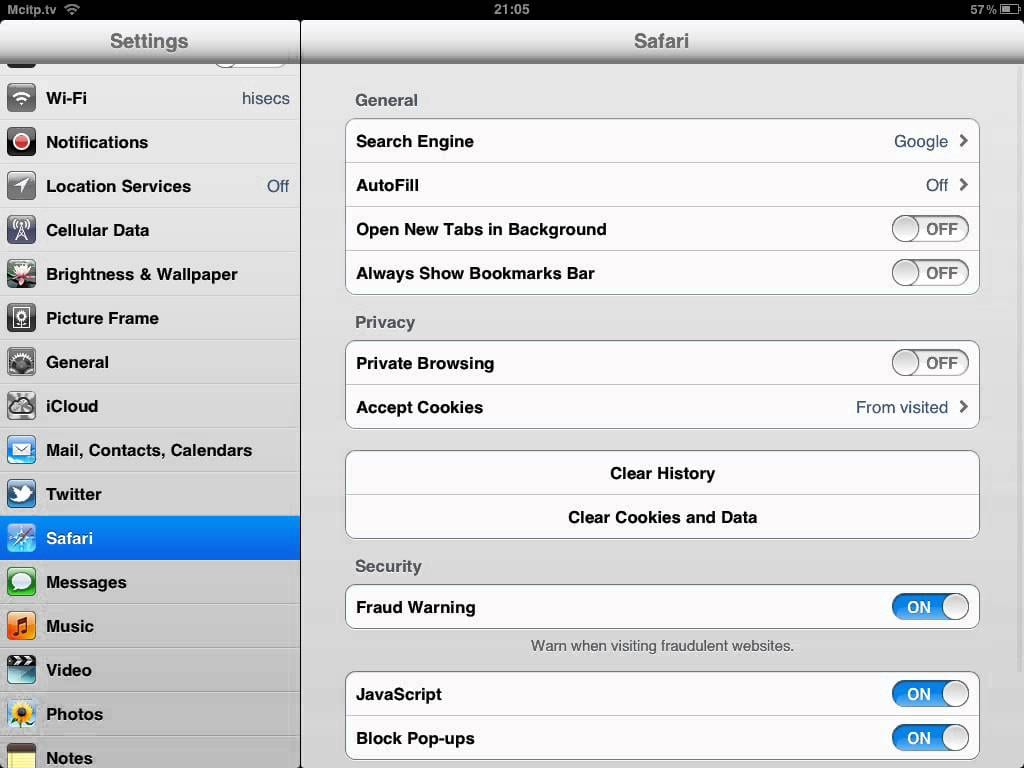 How To Enable Cookies On Ipad