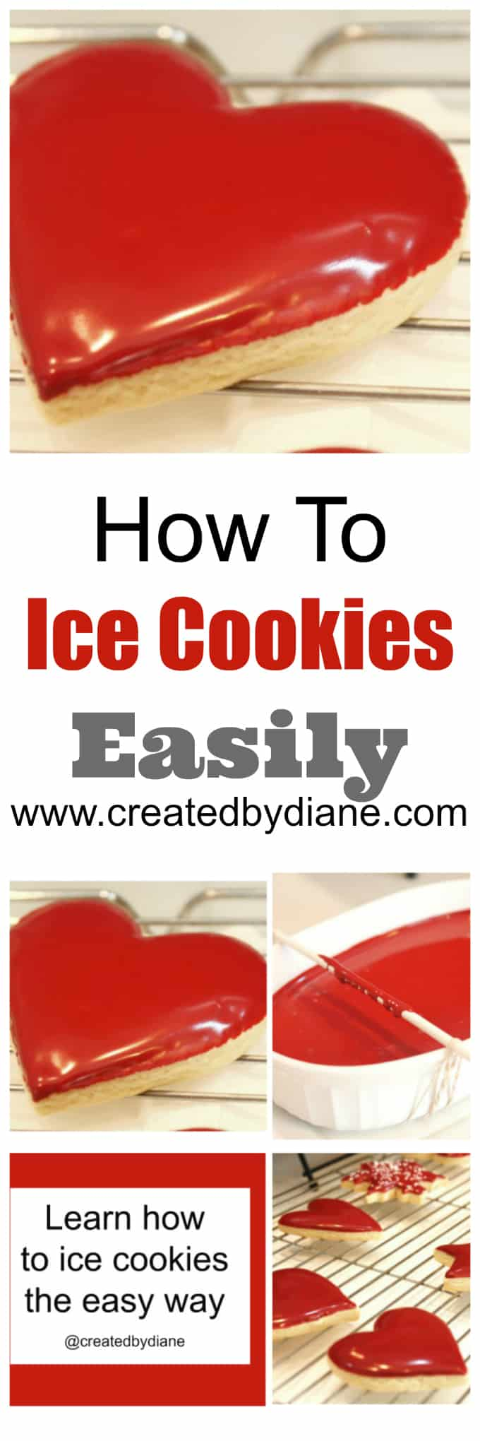 How To Ice Cookies No Piping Bag Video