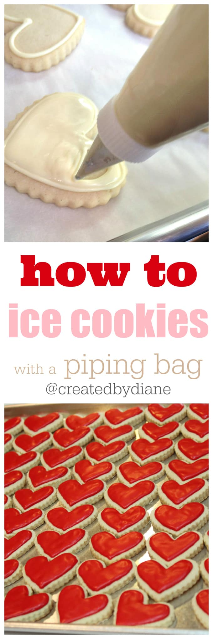 Ice Cookies With A Piping Bag