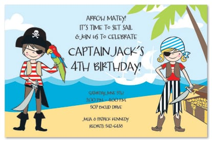 Invitation Ideas  Pirate Birthday Party Invitations