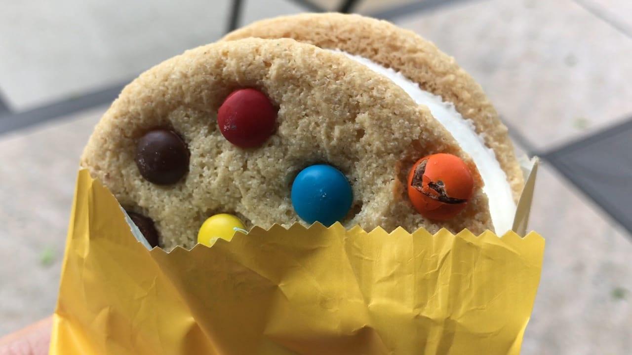 Just An M&m's Ice Cream Cookie Sandwich