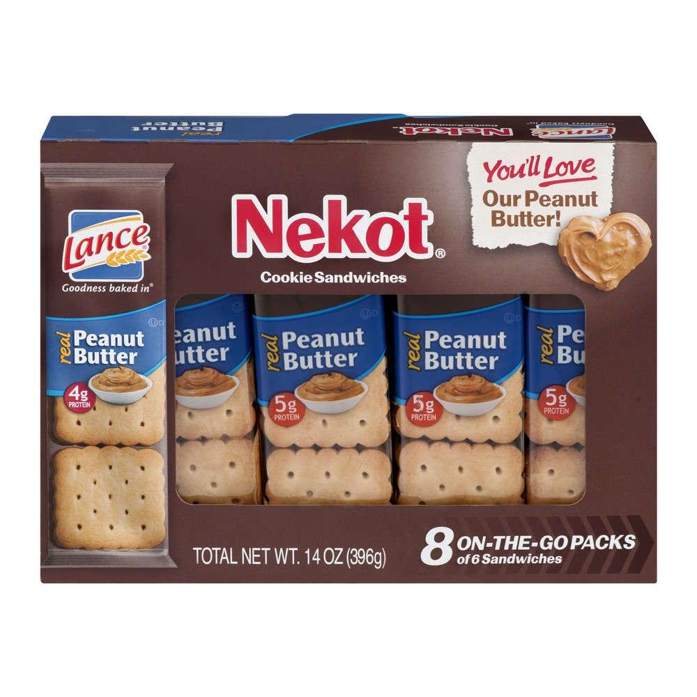 Lance Nekot Cookie Sandwiches, Peanut Butter, 8 Count