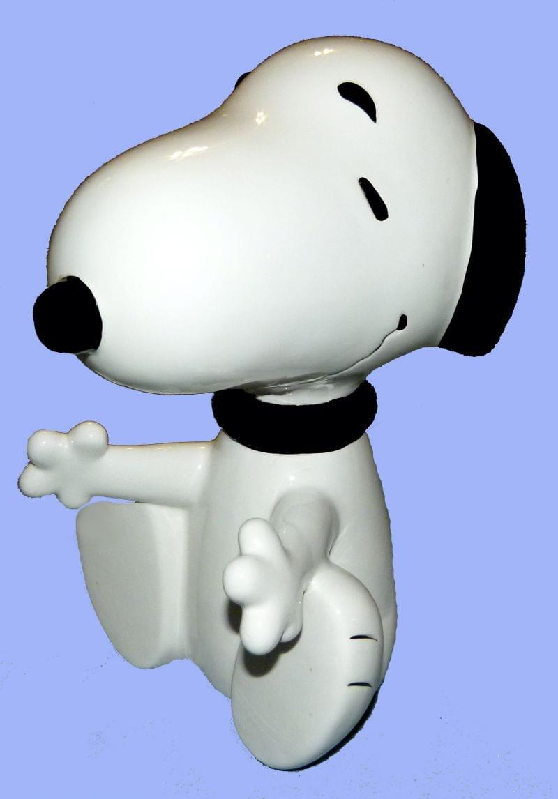 Large Snoopy Cookie Jar Set Figurine (cookie Jar Not Included