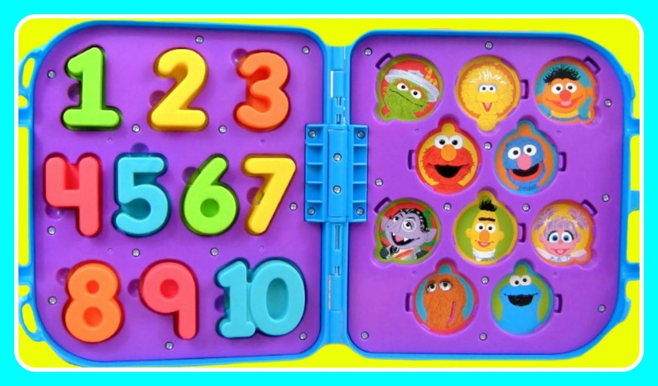 Learn Numbers 123 & Colors With Elmo, Cookie Monster, & Big Bird