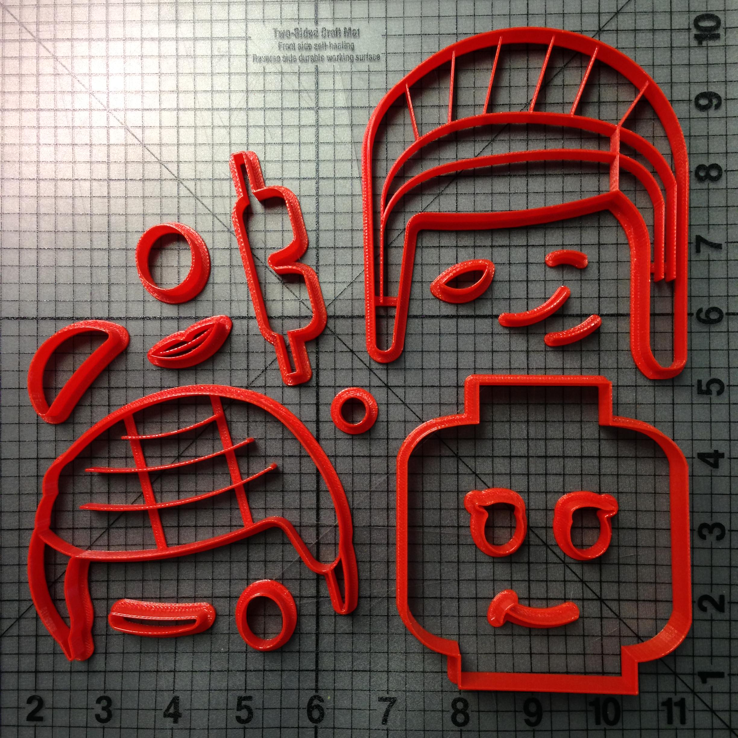 Lego Head Cookie Cutter Set (5)