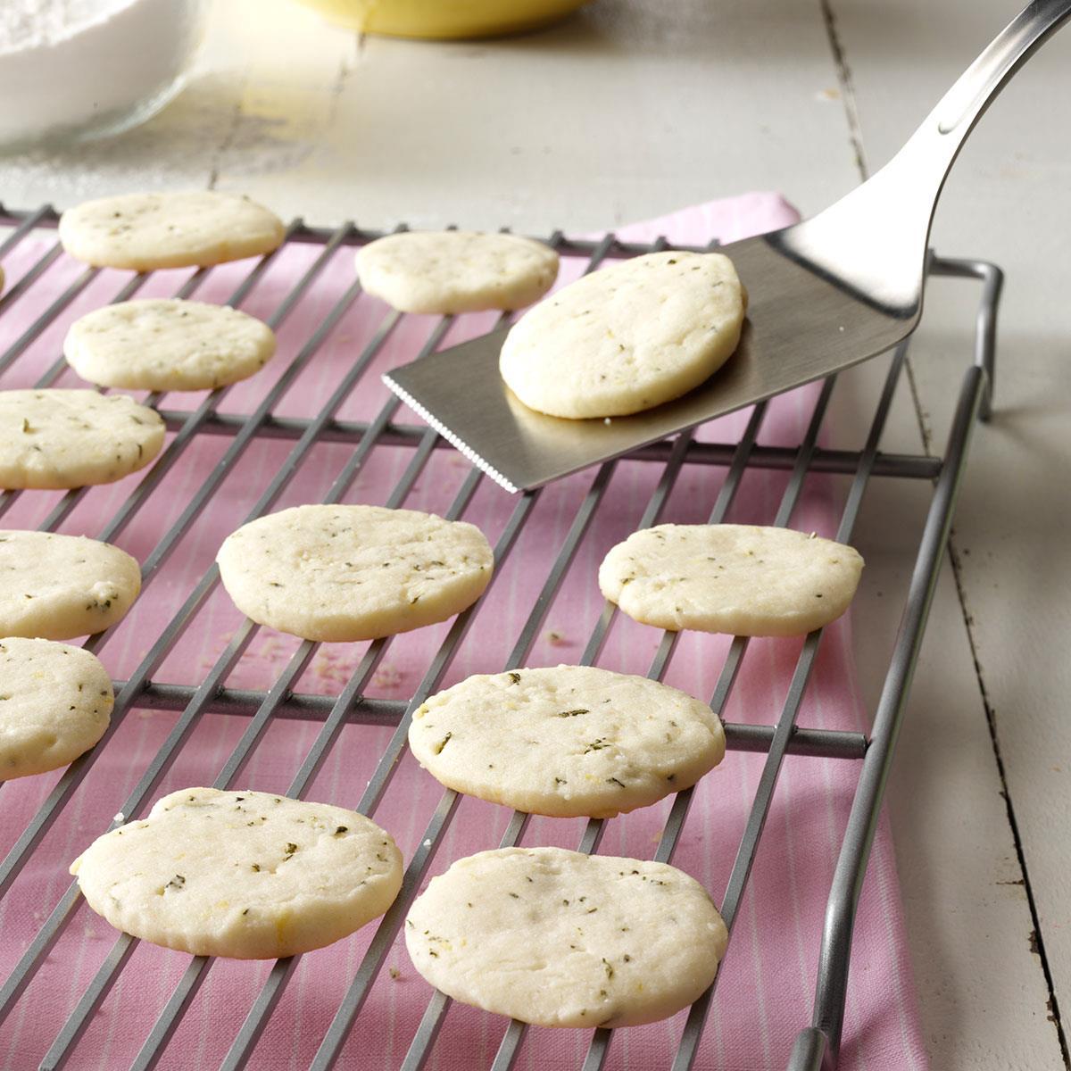 Lemon & Rosemary Shortbread Cookies Recipe