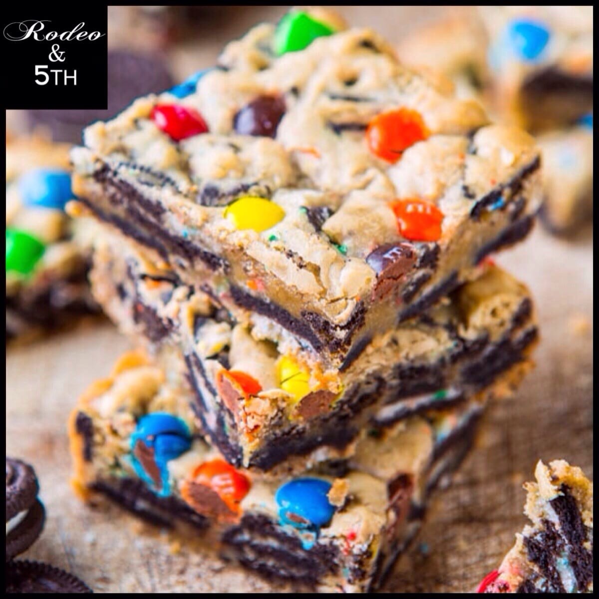 Loaded M&m Oreo Cookie Bars – Rodeoand5thfoodie