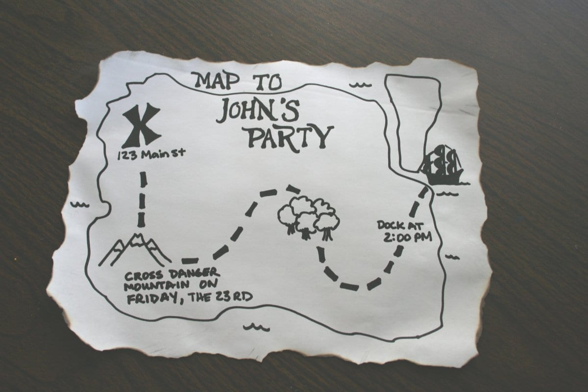 Make A Pirate Party Invitation