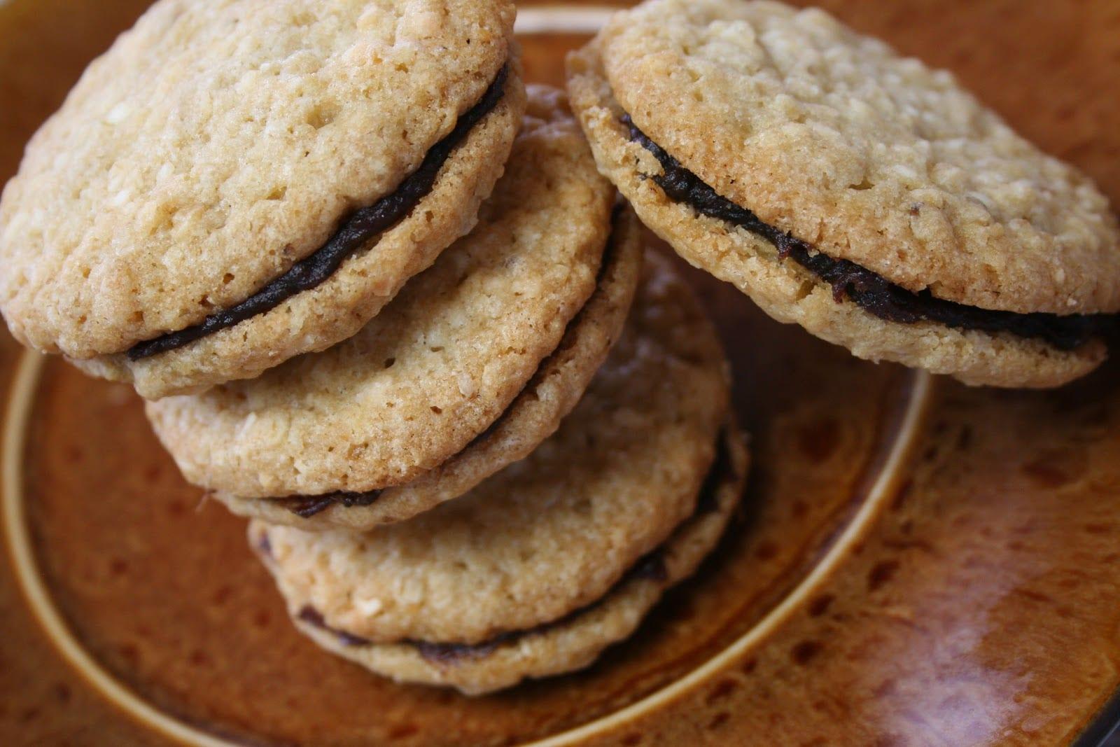 Mennonite Girls Can Cook  Oatmeal Date Sandwich Cookies