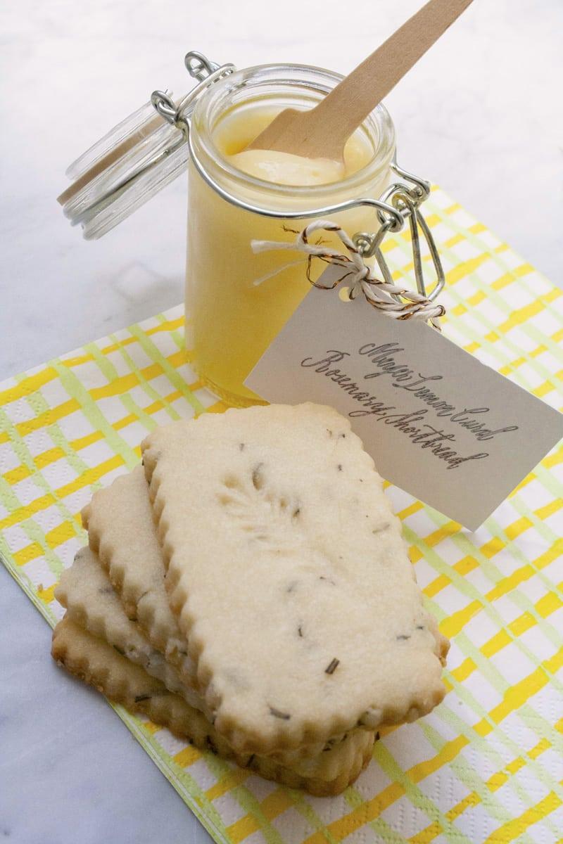 Meyer Lemon Curd With Rosemary Shortbread Cookies – Bakin' Bit