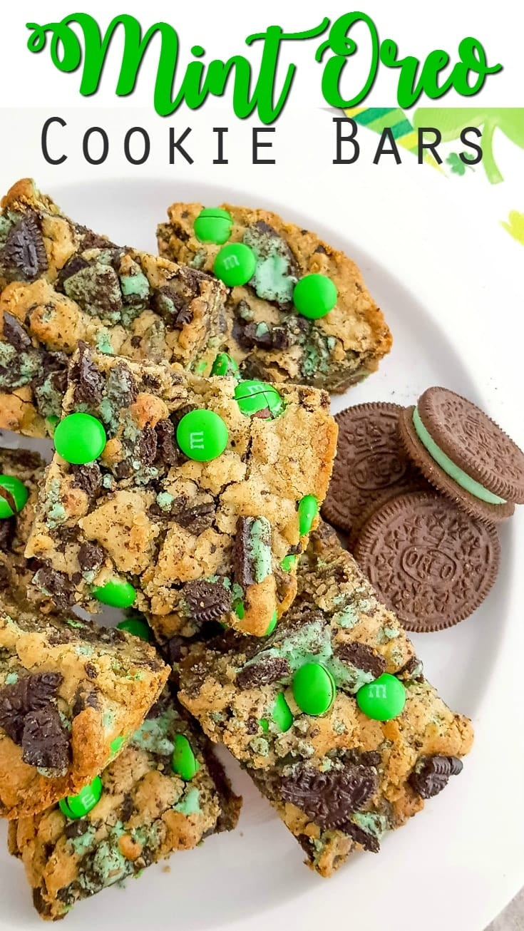 Mint Oreo Cookie Bars Recipe