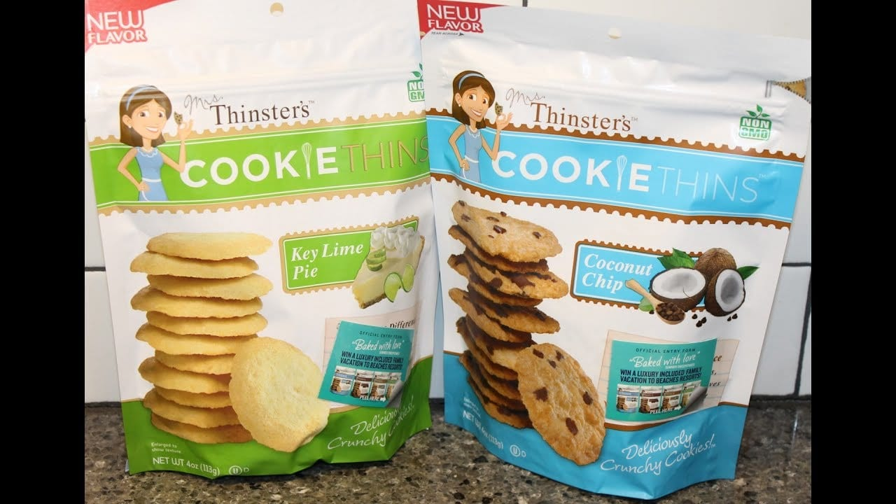 Mrs  Thinsters Cookie Thins  Key Lime Pie And Coconut Chip Cookie