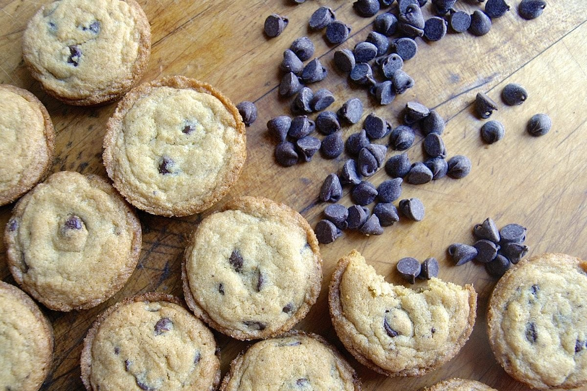 Muffin Pan Chocolate Chip Cookies