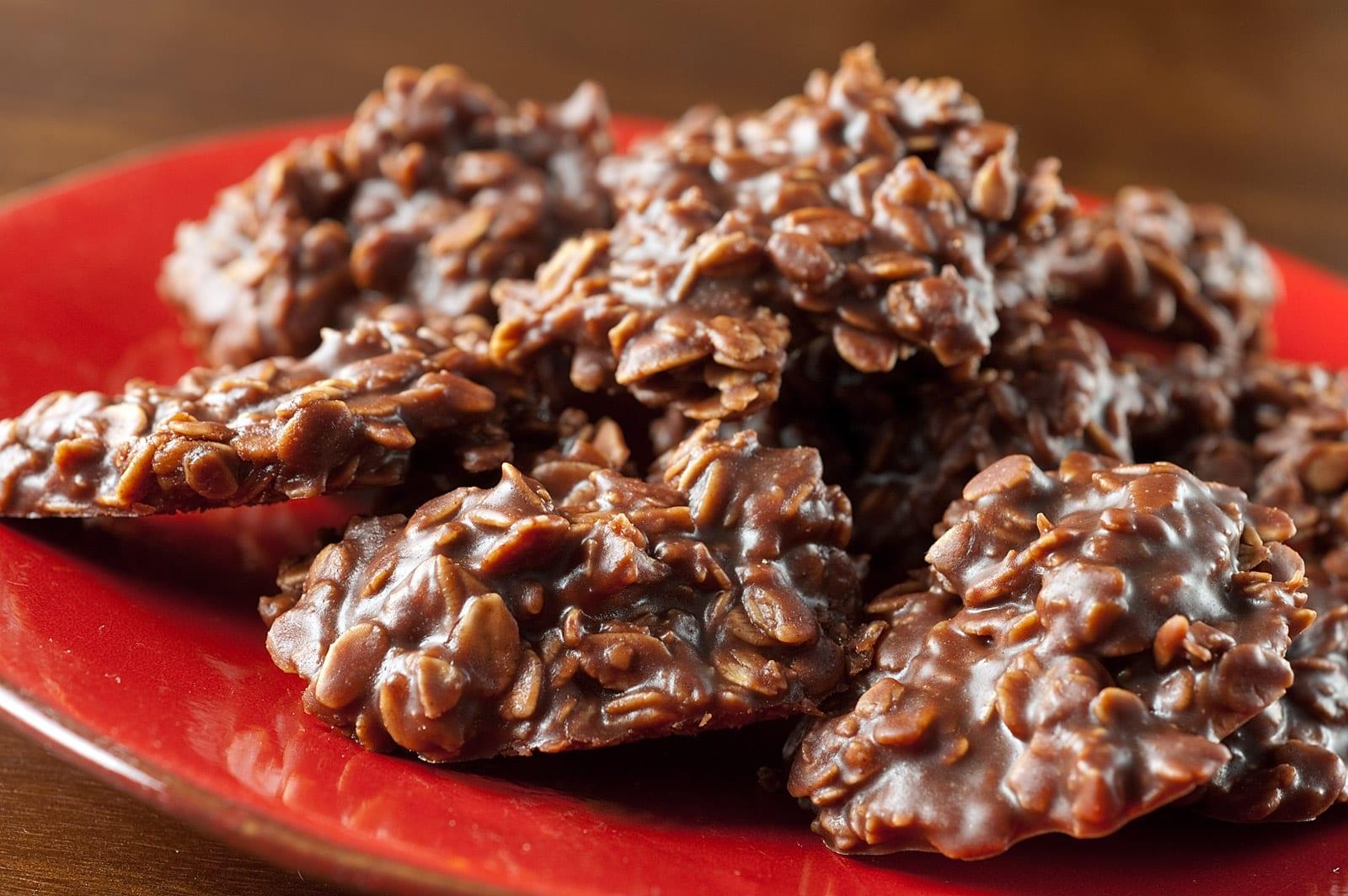 No Bake ~ No Stick ~ Chocolate Peanut Butter Cookies