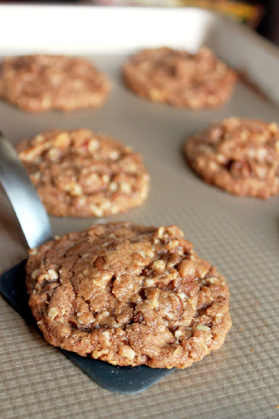 Nutella Oatmeal Pecan Chocolate Chip Cookies