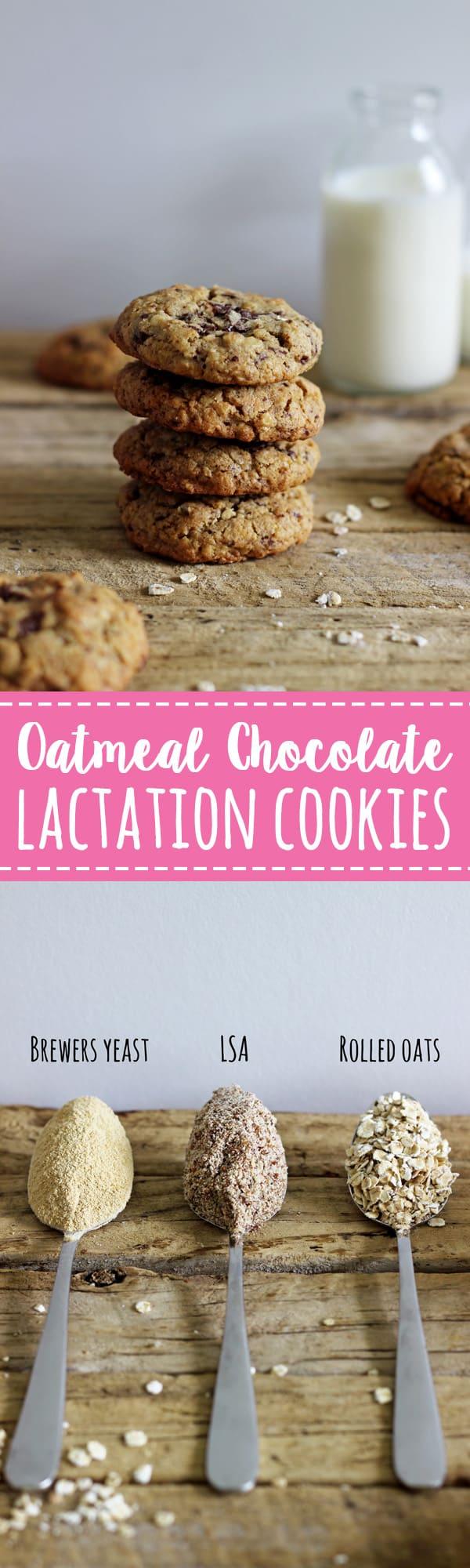Oatmeal Chocolate Lactation Cookies