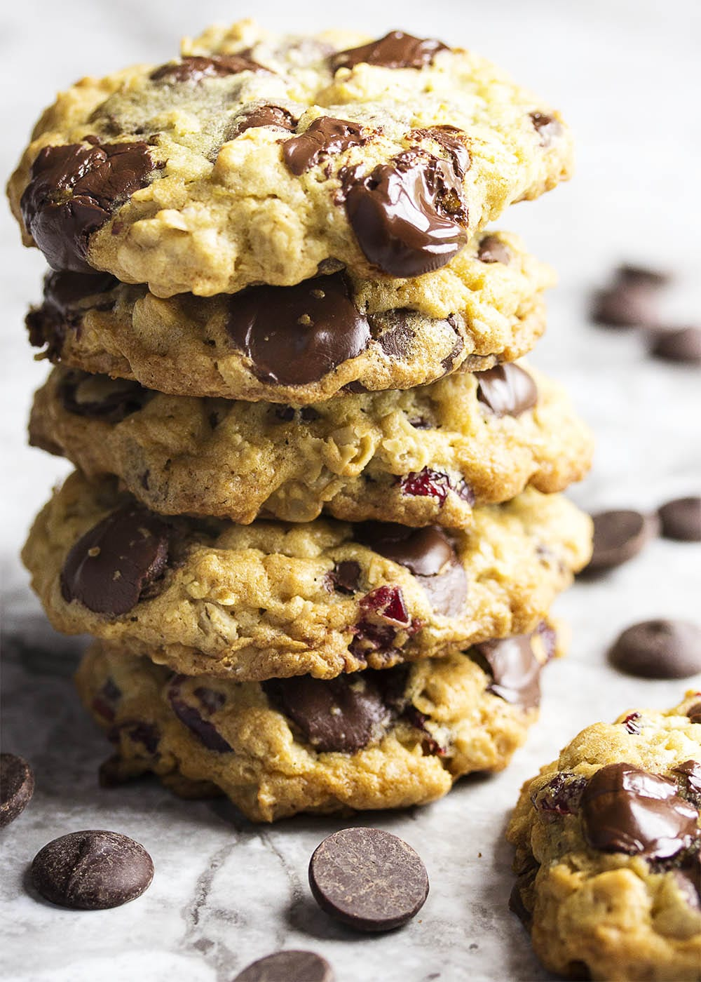One Bowl Chocolate Chip Cherry Oatmeal Cookies