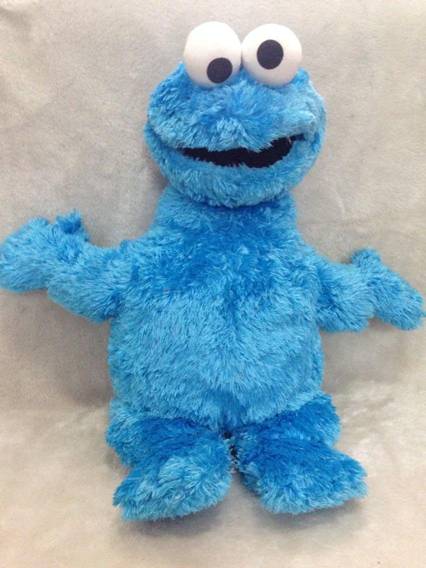Original New Sesame Street Cookie Monster Plush Doll 55cm Cute